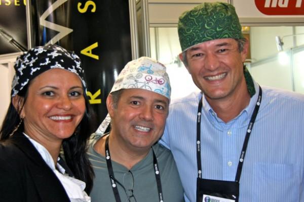 Dra. Márua Galvão – RJ, Dr. Mário Delgado – SP, e Dr. Fábio Porto – SP